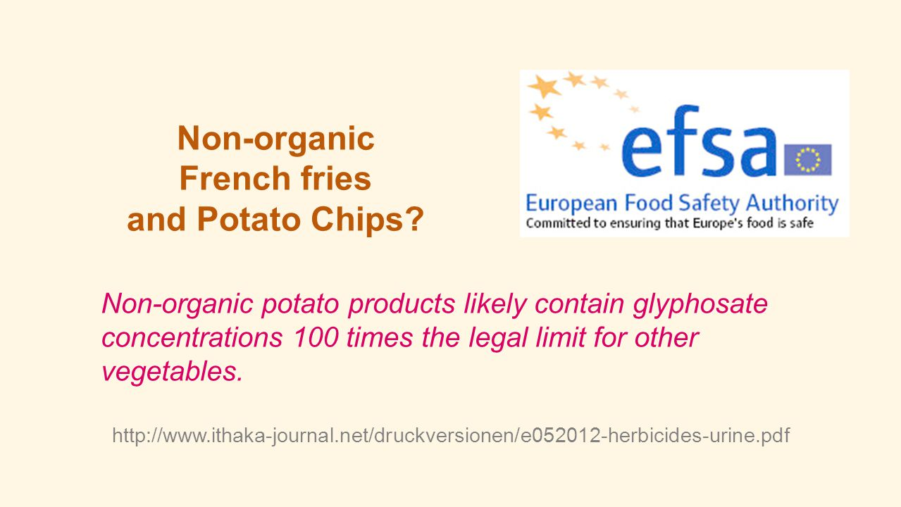 Non-organic French fries and Potato Chips
