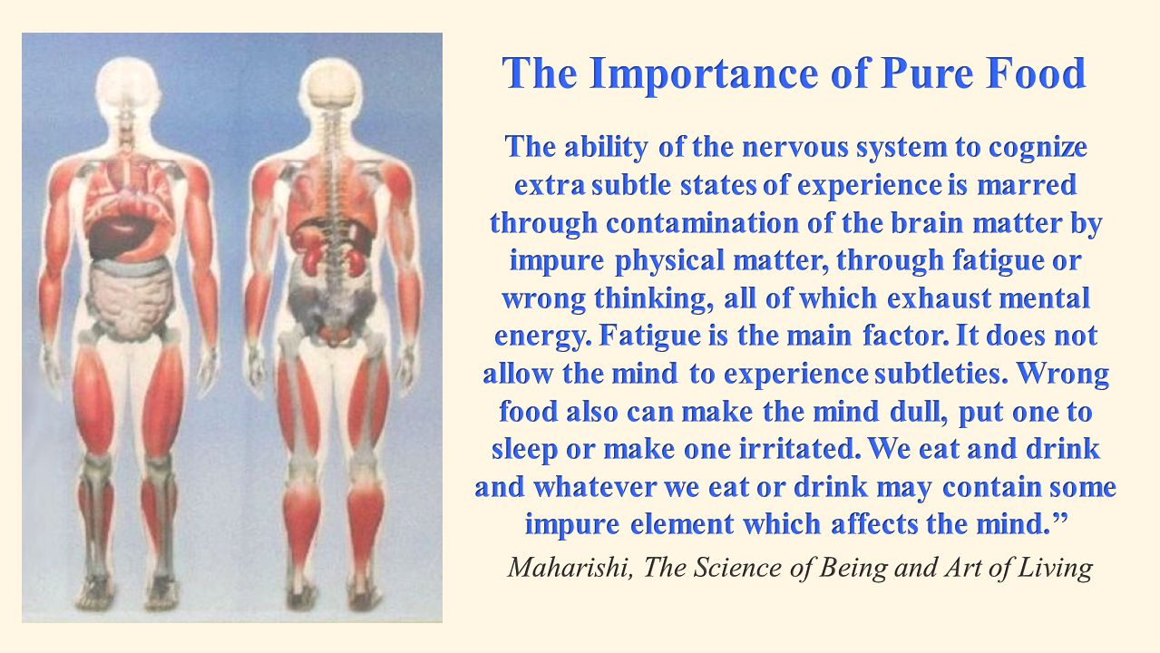 The Importance of Pure Food