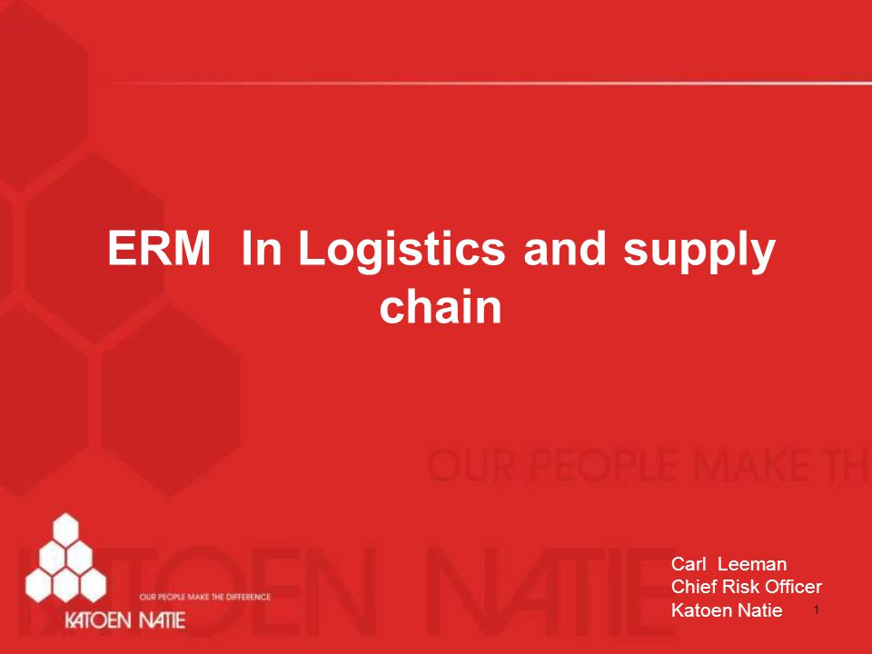 ERM In Logistics and supply chain