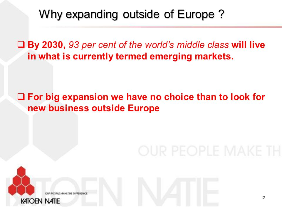 Why expanding outside of Europe