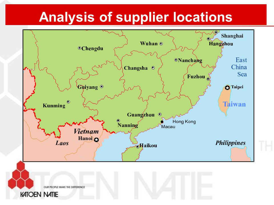 Analysis of supplier locations