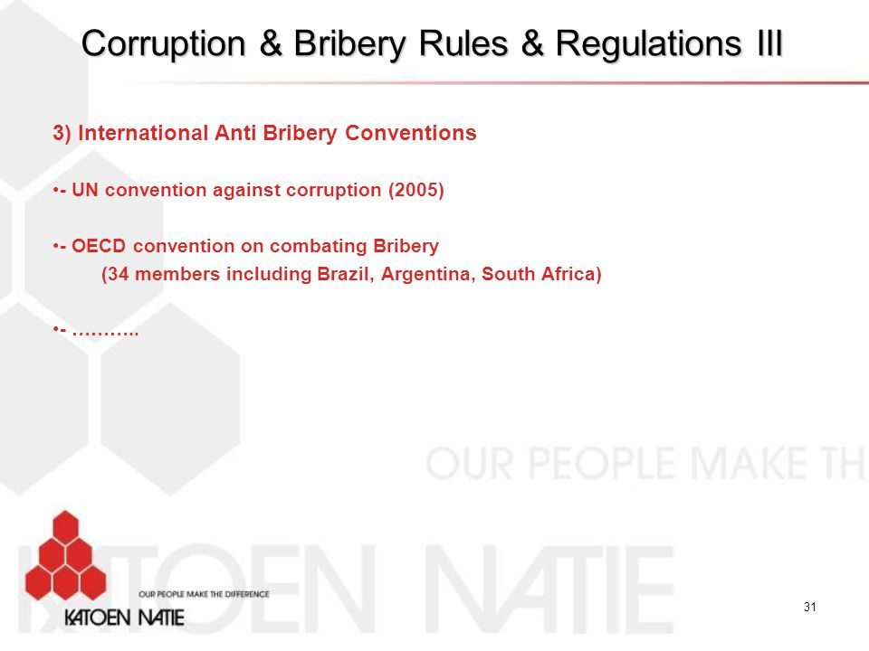 Corruption & Bribery Rules & Regulations III