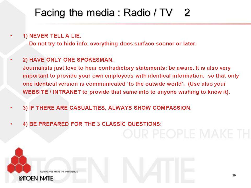 Facing the media : Radio / TV 2