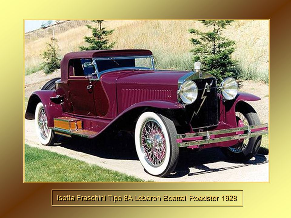 Isotta Fraschini Tipo 8A Lebaron Boattail Roadster 1928
