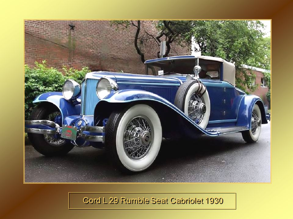 Cord L 29 Rumble Seat Cabriolet 1930