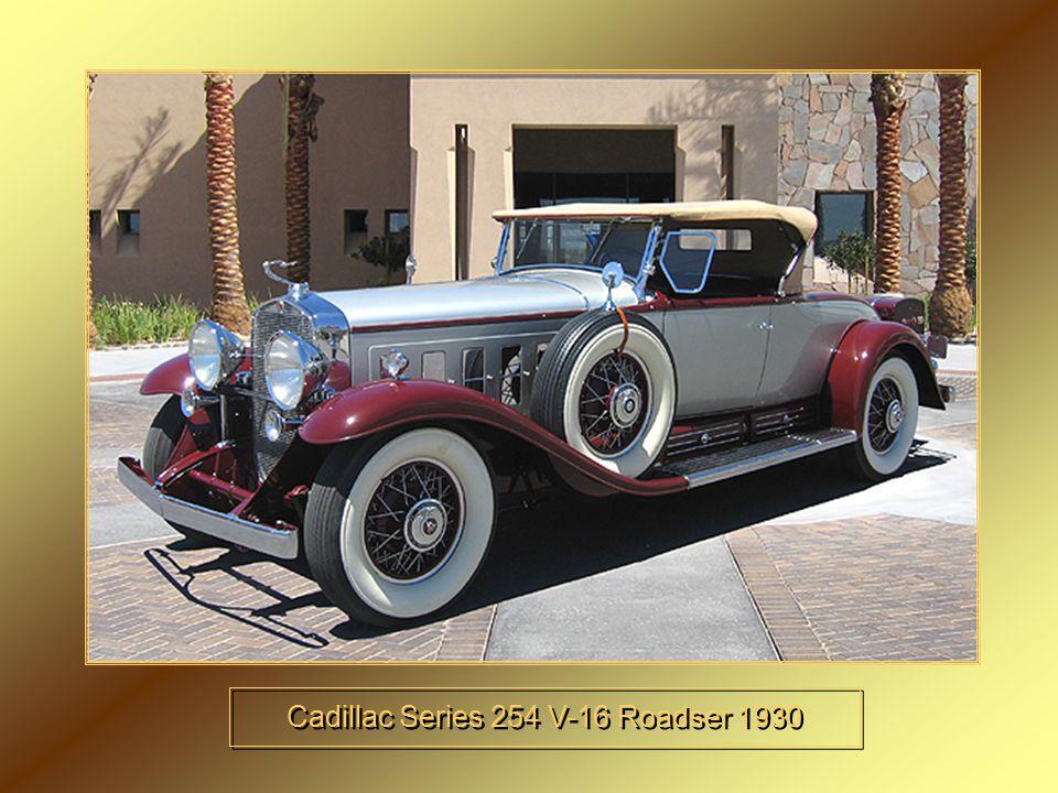 Cadillac Series 254 V-16 Roadser 1930