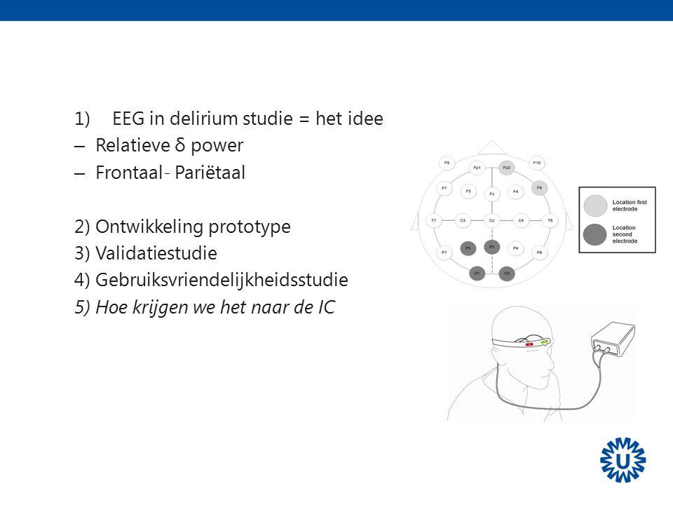 Samenvatting EEG in delirium studie = het idee Relatieve δ power