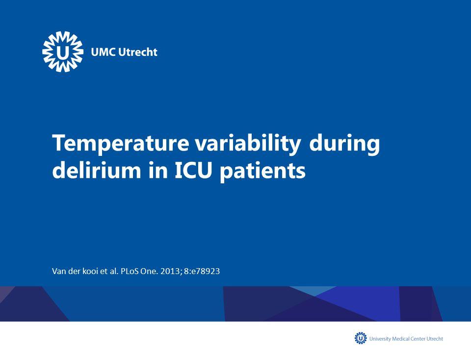 Temperature variability during delirium in ICU patients