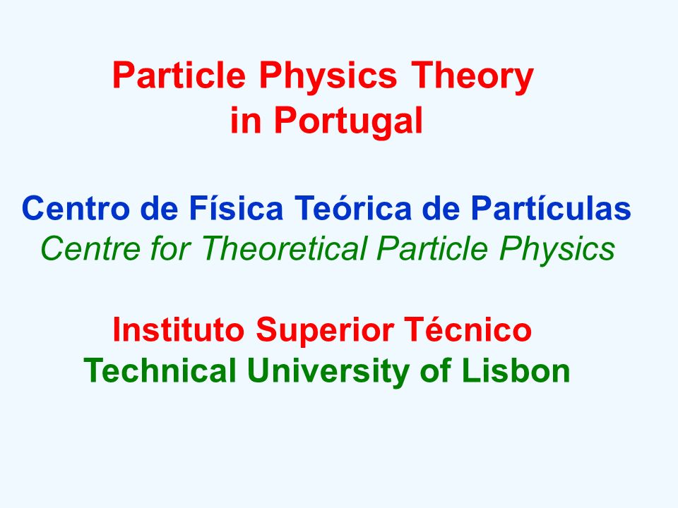 Particle Physics Theory in Portugal