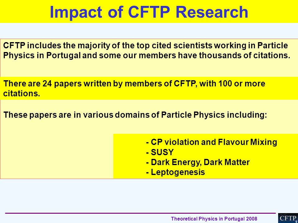 Impact of CFTP Research