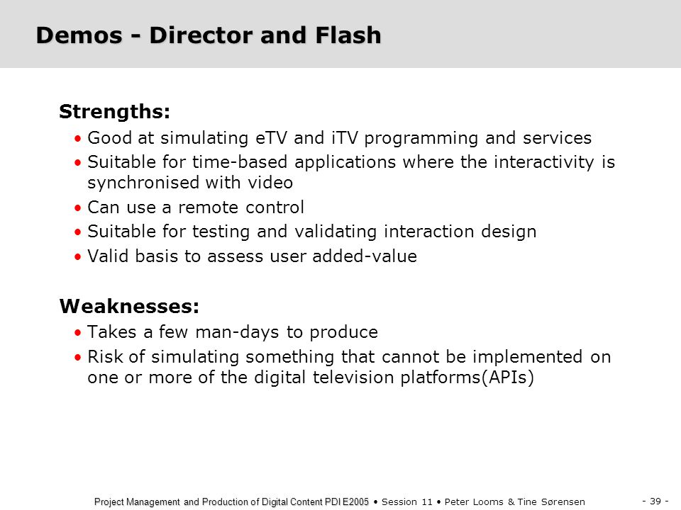 Demos - Director and Flash