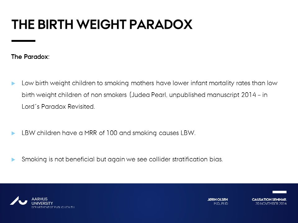 The birth weight paradox