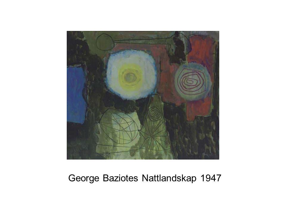 George Baziotes Nattlandskap 1947