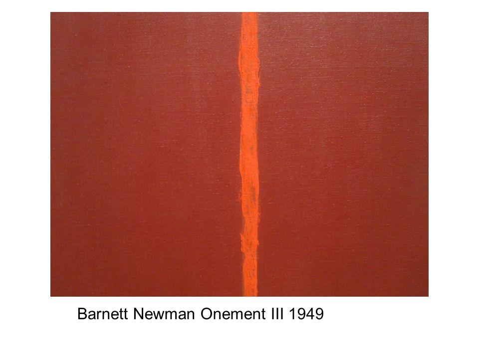 Barnett Newman Onement III 1949