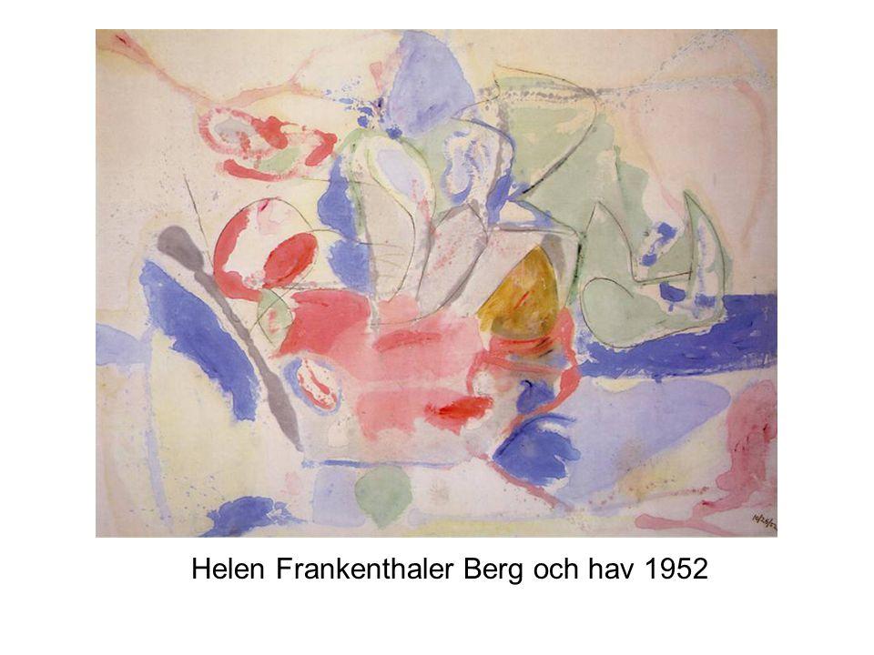 Helen Frankenthaler Berg och hav 1952