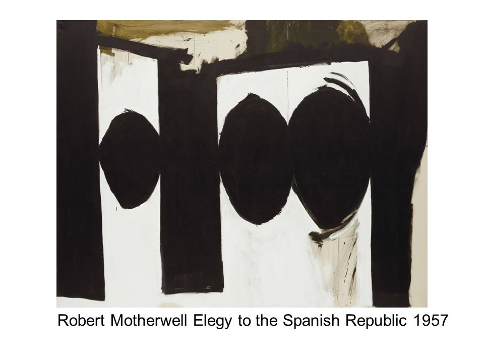 Robert Motherwell Elegy to the Spanish Republic 1957