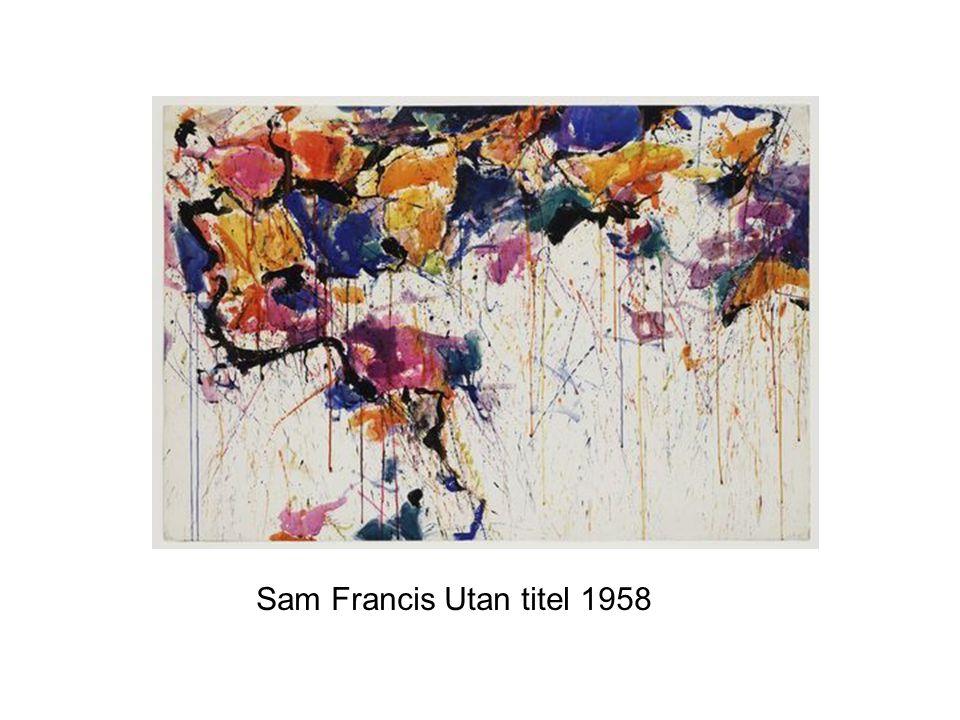 Sam Francis Utan titel 1958