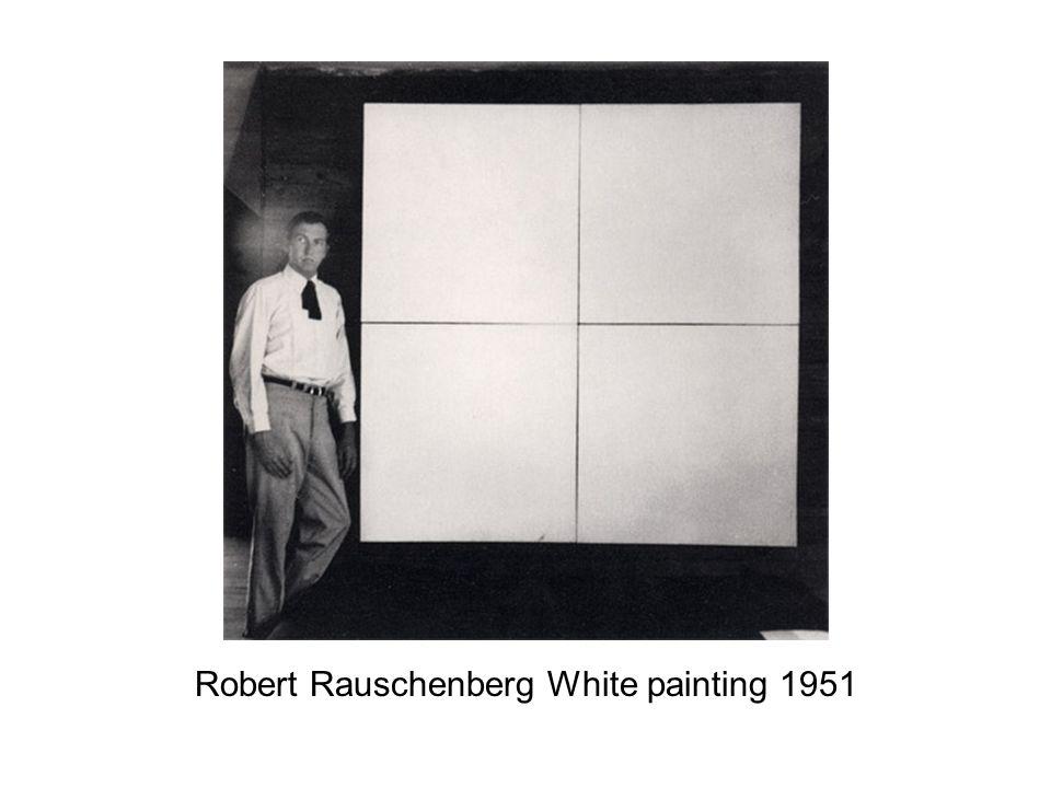 Robert Rauschenberg White painting 1951