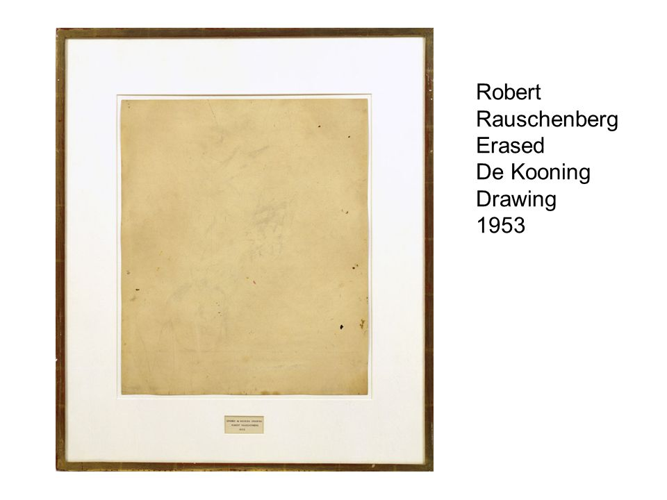 Robert Rauschenberg Erased De Kooning Drawing 1953