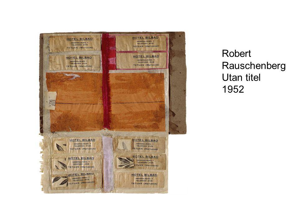Robert Rauschenberg Utan titel 1952