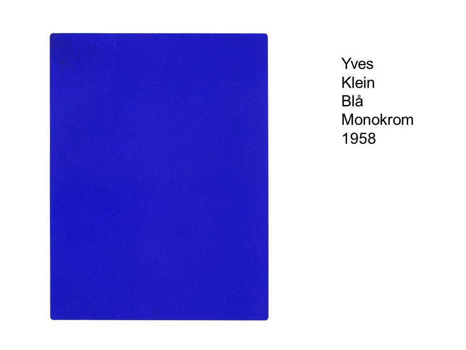 Yves Klein Blå Monokrom 1958