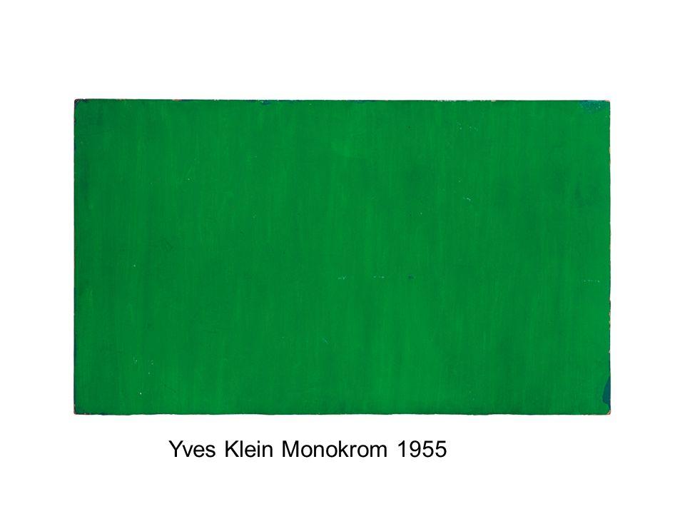 Yves Klein Monokrom 1955