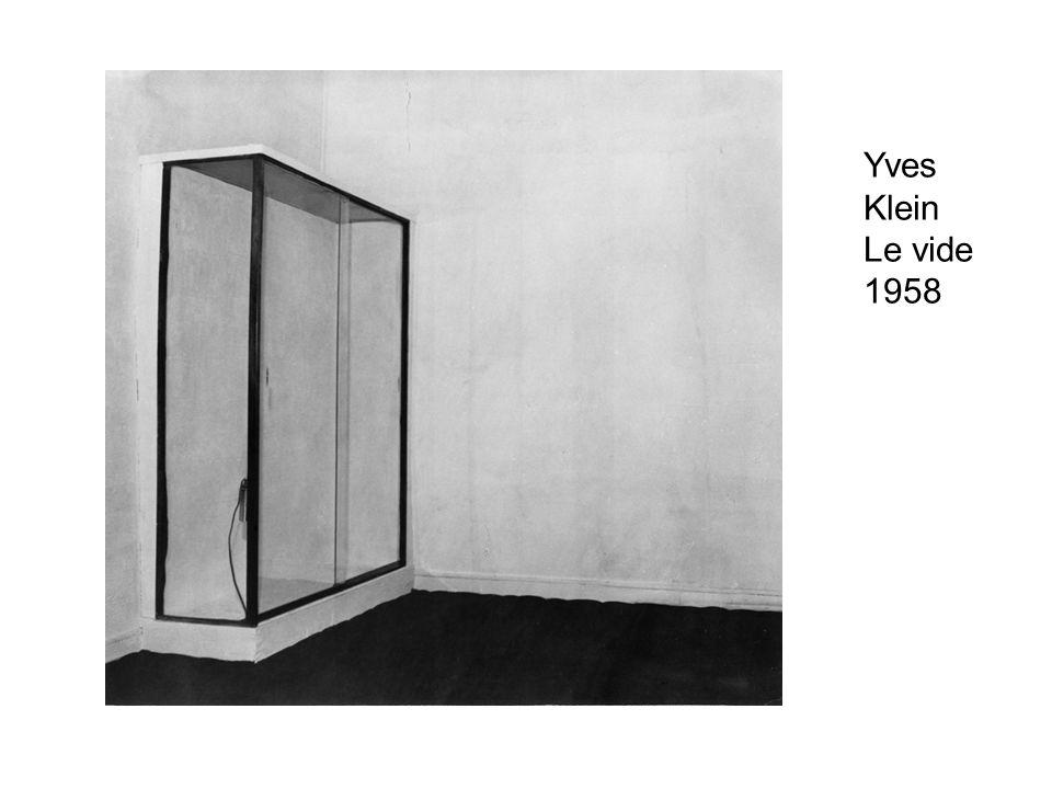 Yves Klein Le vide 1958