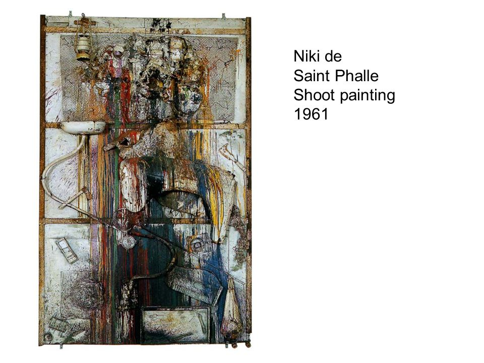 Niki de Saint Phalle Shoot painting 1961