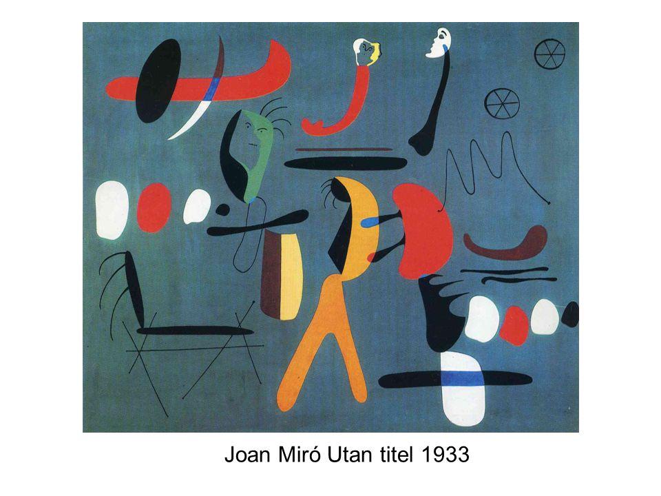 Joan Miró Utan titel 1933