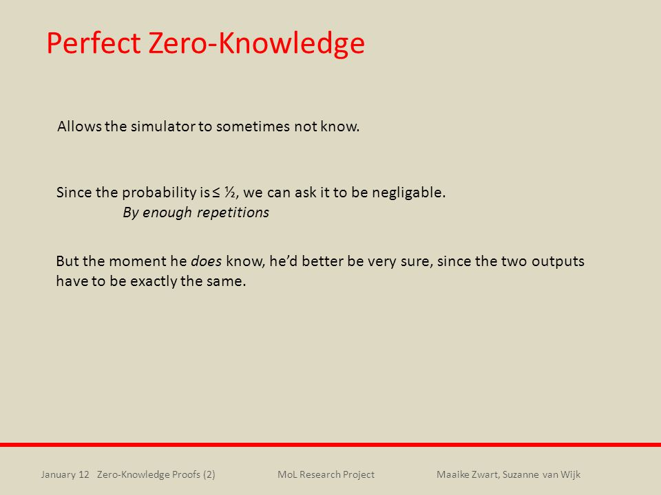 Perfect Zero-Knowledge