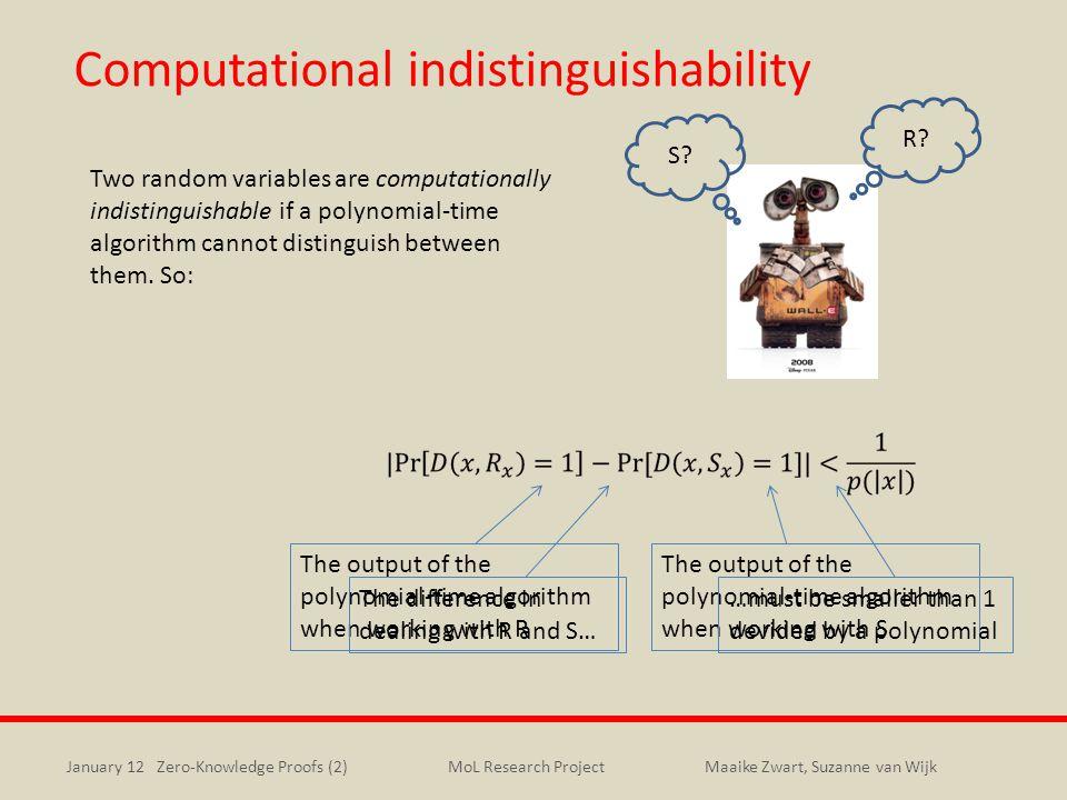 Computational indistinguishability