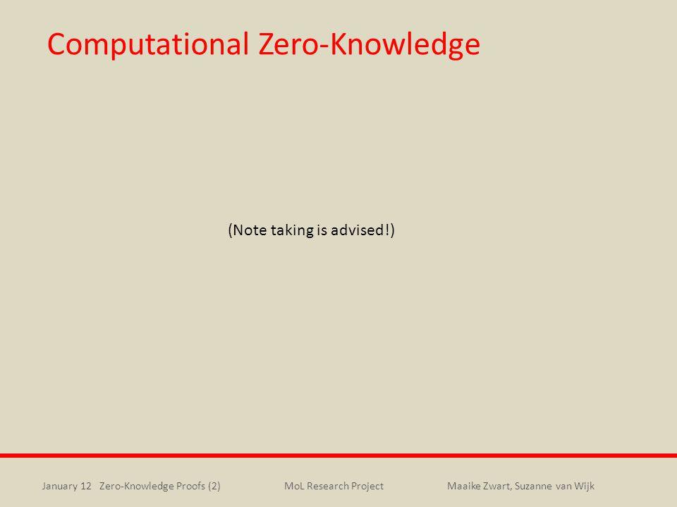 Computational Zero-Knowledge