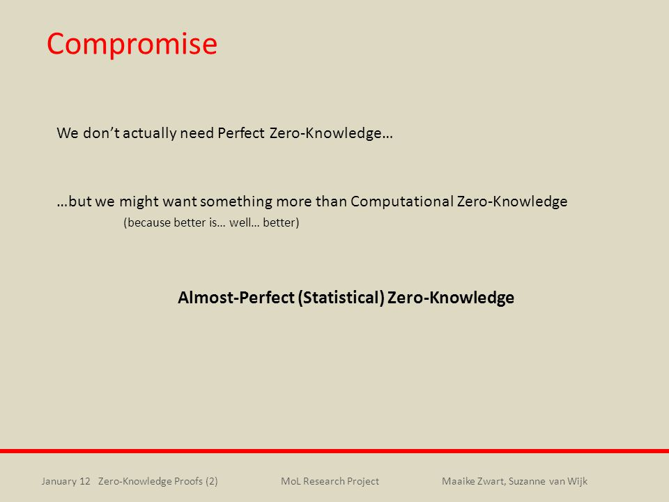 Compromise Almost-Perfect (Statistical) Zero-Knowledge