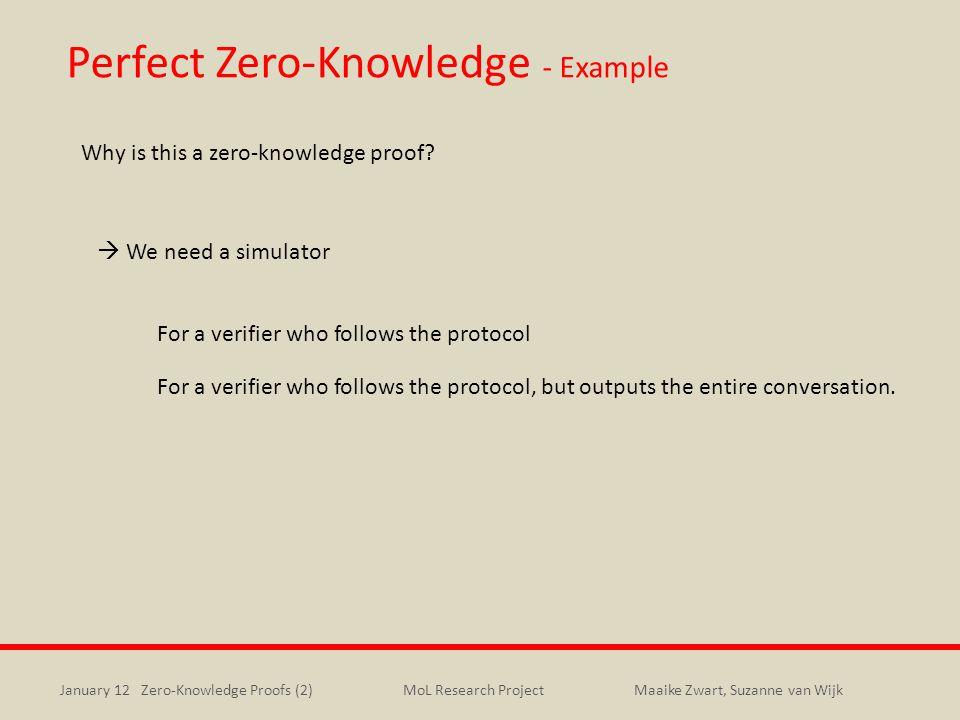 Perfect Zero-Knowledge - Example
