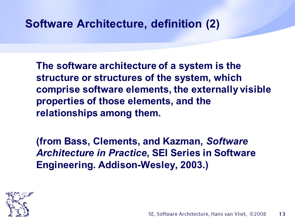 Software Architecture, definition (2)
