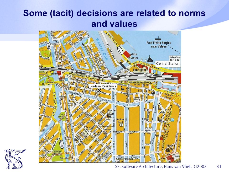 Some (tacit) decisions are related to norms and values