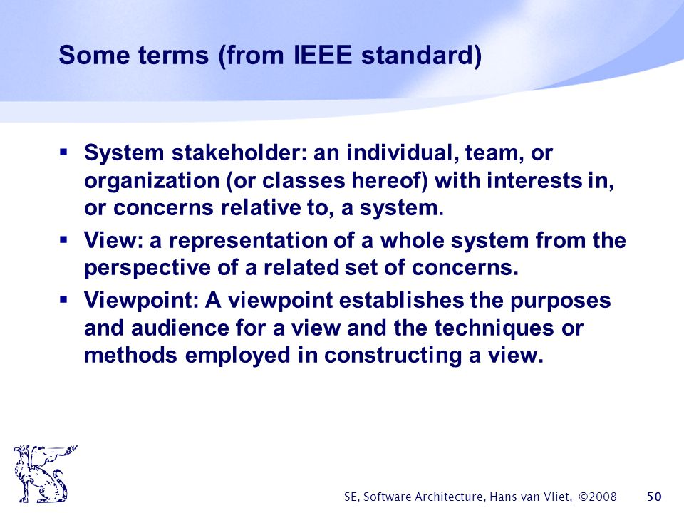 Some terms (from IEEE standard)