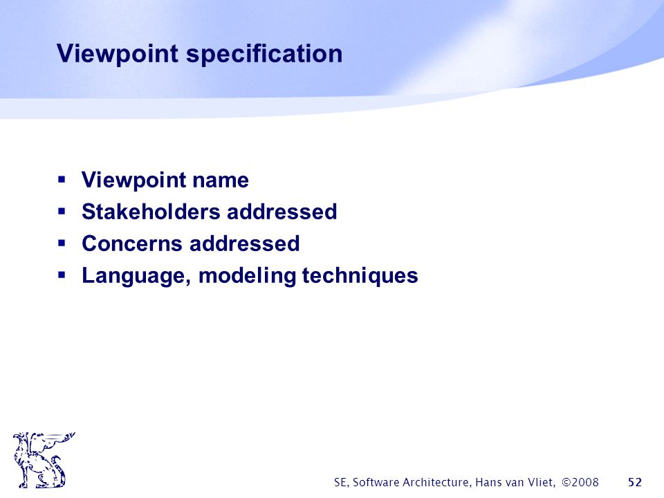 Viewpoint specification