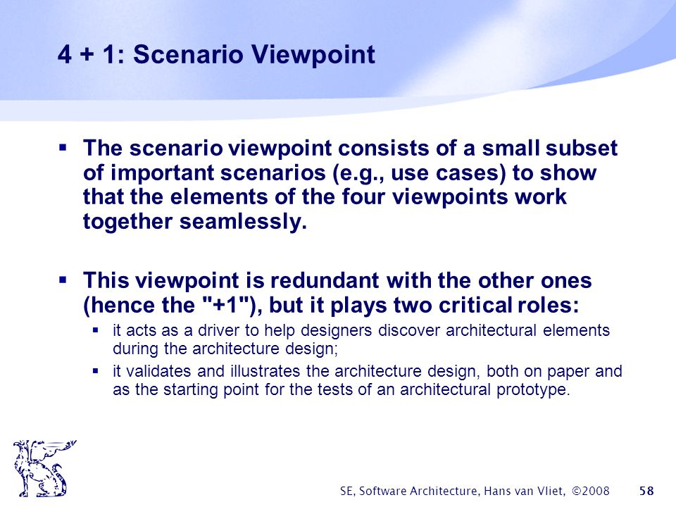 4 + 1: Scenario Viewpoint