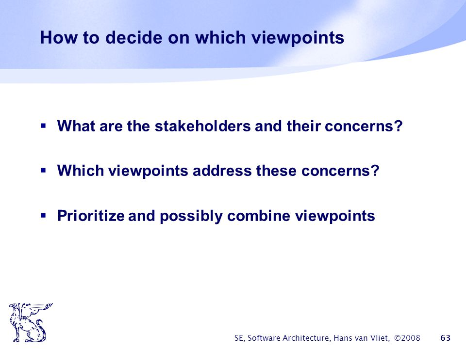 How to decide on which viewpoints
