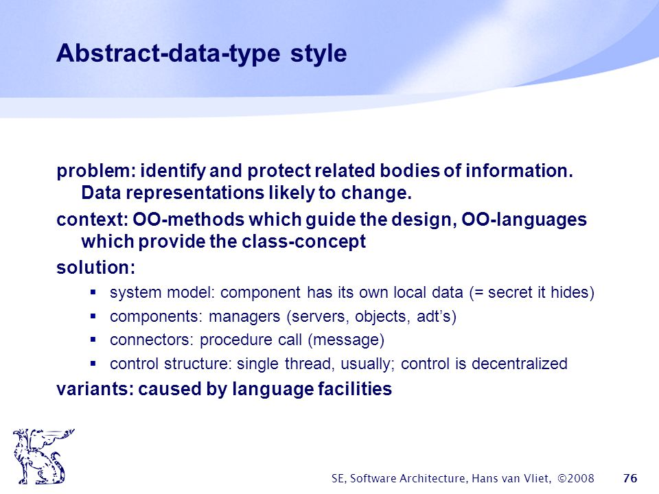 Abstract-data-type style