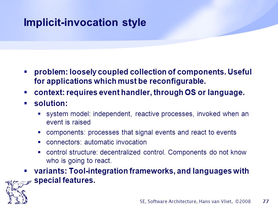Implicit-invocation style