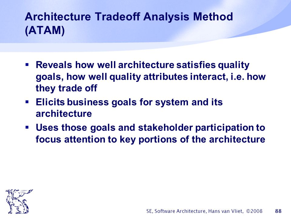 Architecture Tradeoff Analysis Method (ATAM)