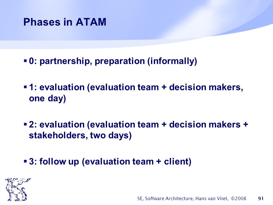 Phases in ATAM 0: partnership, preparation (informally)
