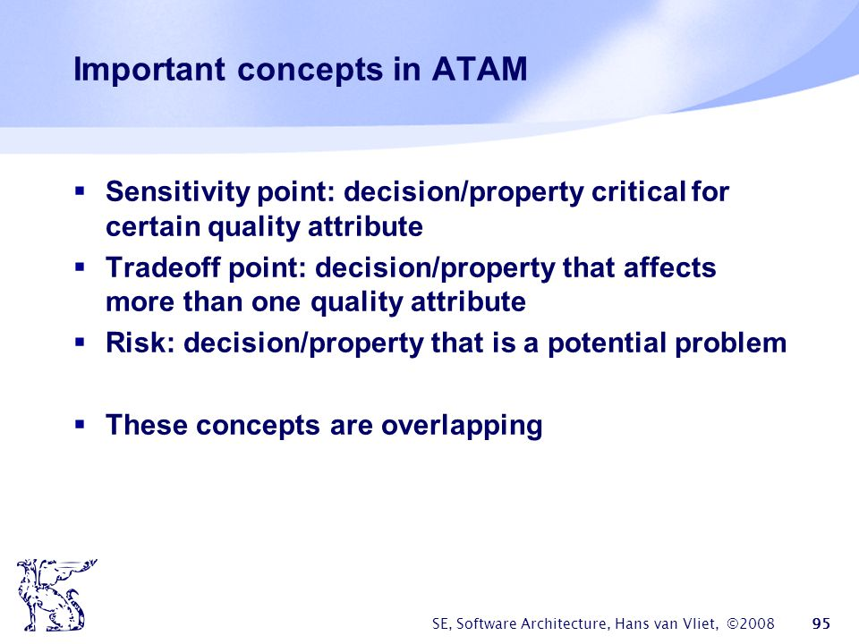Important concepts in ATAM