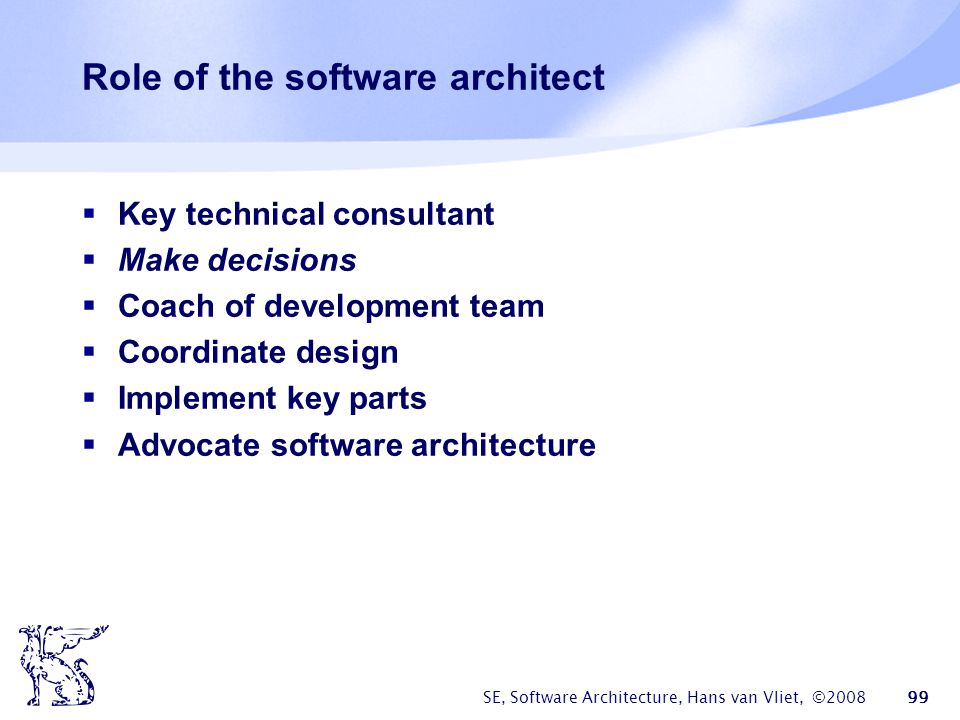 Role of the software architect