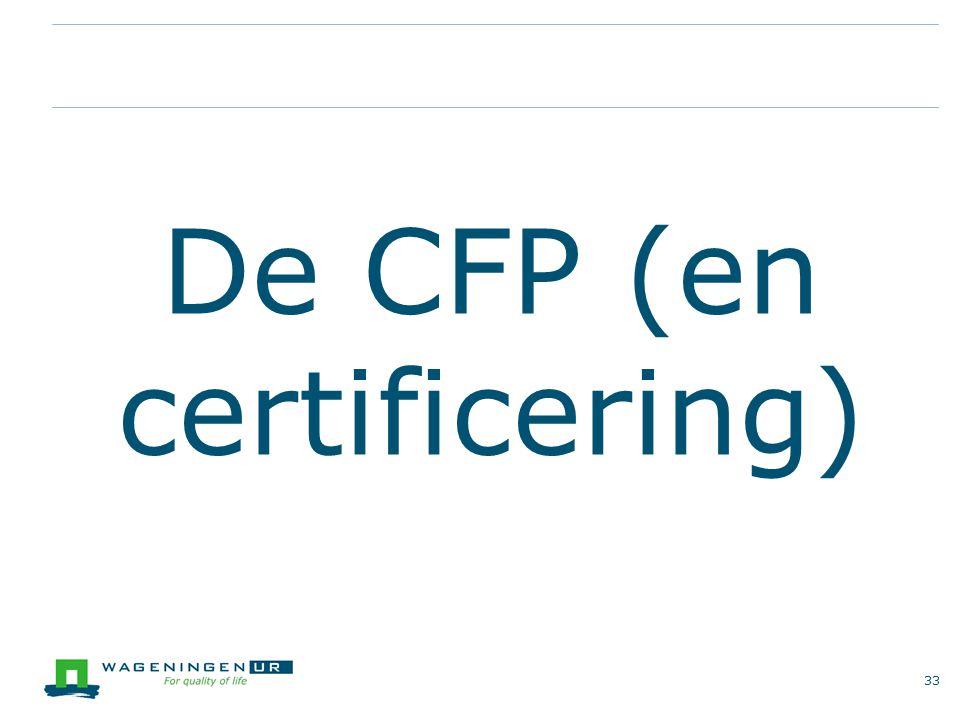 De CFP (en certificering)
