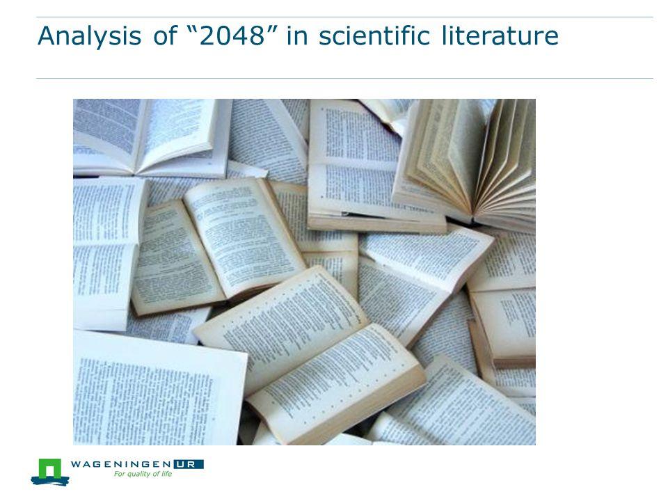 Analysis of 2048 in scientific literature