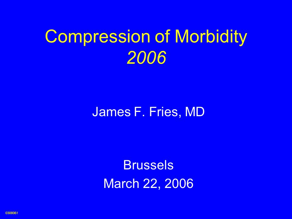Compression of Morbidity 2006