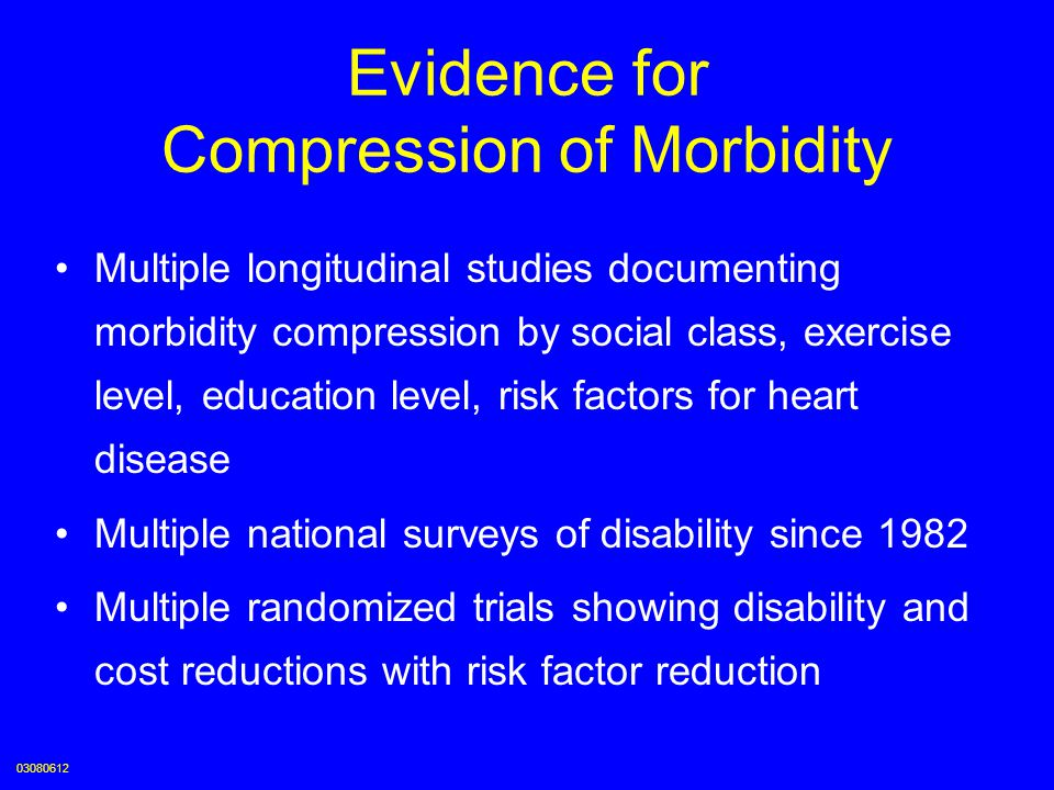Evidence for Compression of Morbidity